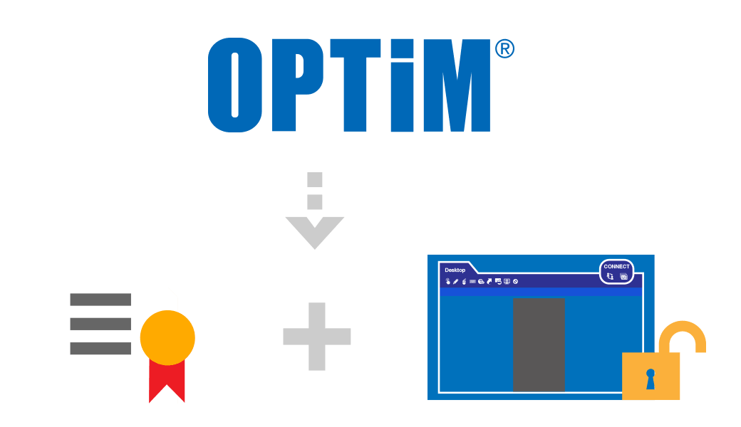 Receive the profile and account of operator tool for development from OPTiM image